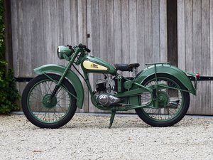 Picture of 1951 BSA Bantam D1 with Lucas electrics and plunger springs SOLD