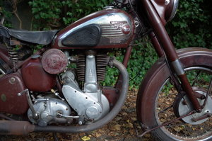 Original and unrestored BSA B33. Matching numbers.