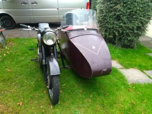 Bsa m21 with sidecar