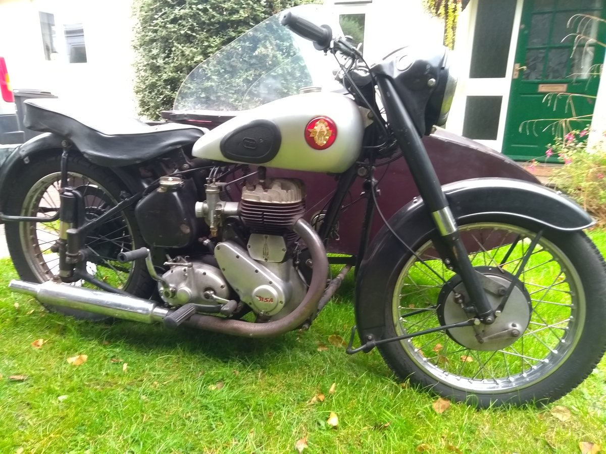 1954 Bsa m21 with sidecar SOLD (picture 3 of 4)