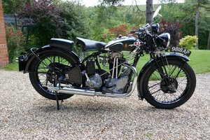 Picture of 1932 BSA r33 twin port single pre war 350cc