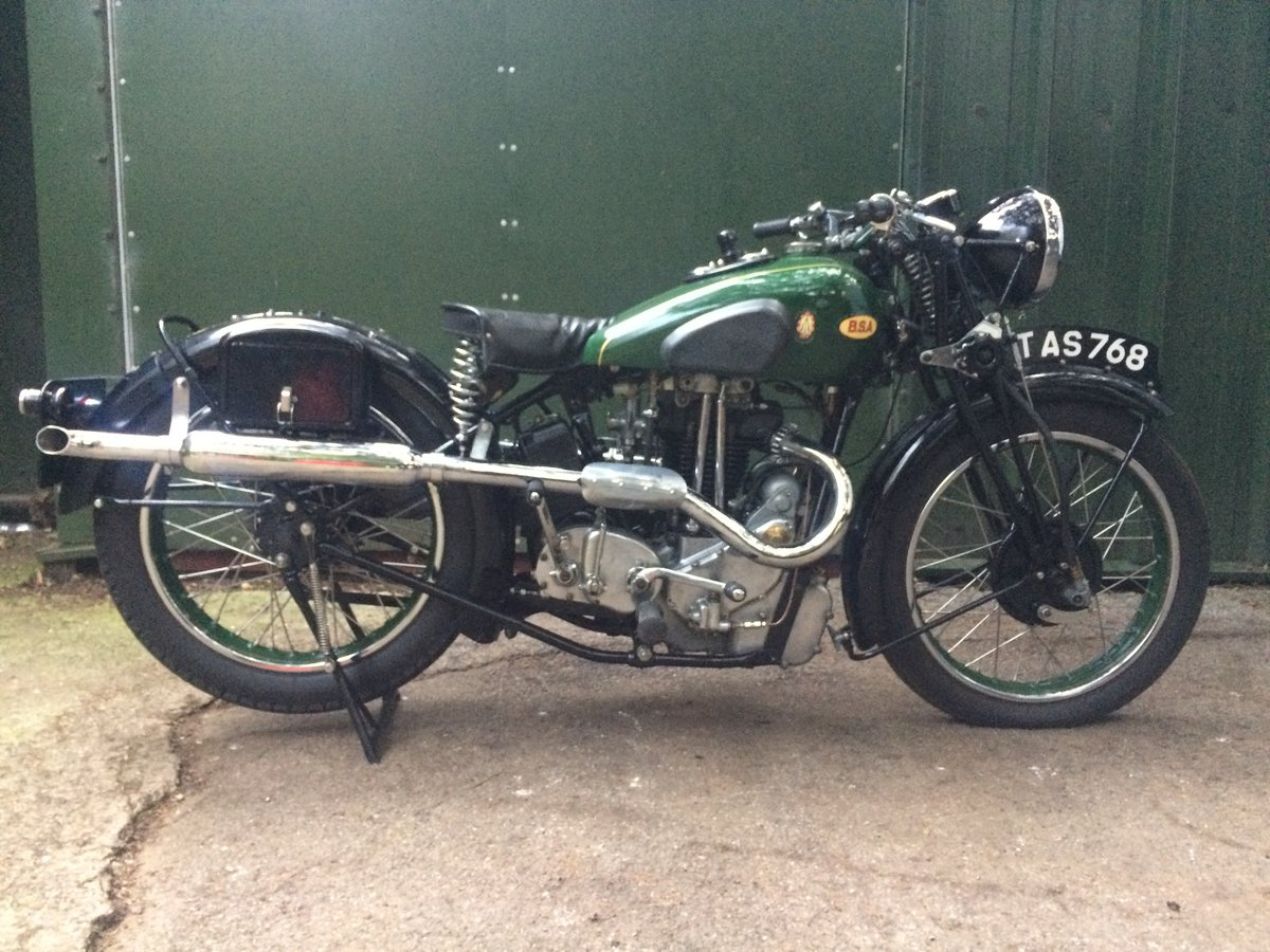 A 1936 BSA Blue Star Q21 500cc OHV - 11/11/2020 SOLD by Auction (picture 1 of 6)