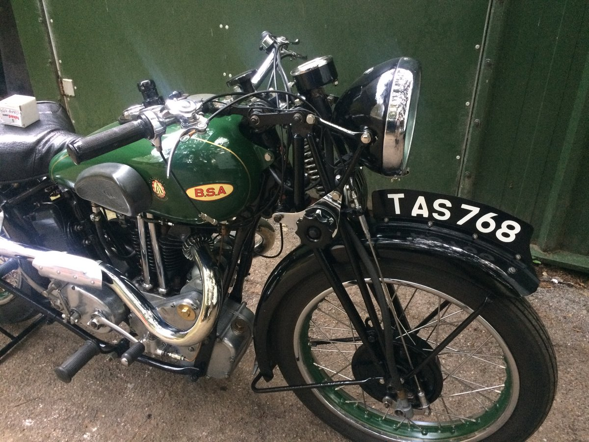 A 1936 BSA Blue Star Q21 500cc OHV - 11/11/2020 SOLD by Auction (picture 6 of 6)