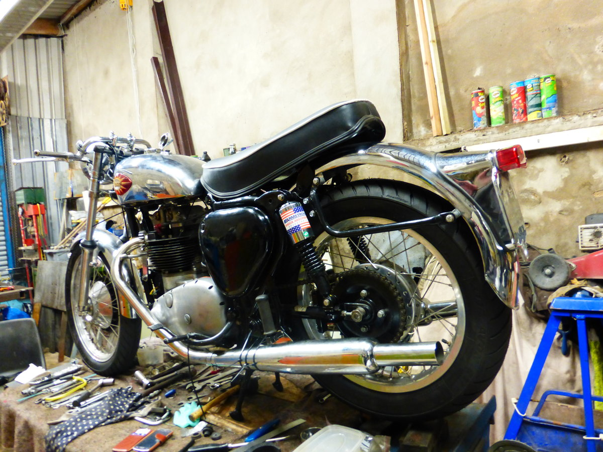 1956 BSA A10 Gold Flash Nut and Bolt Restoration For Sale (picture 2 of 12)