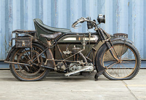 Picture of 1914 BSA 4hp Model H Motorcycle Combination
