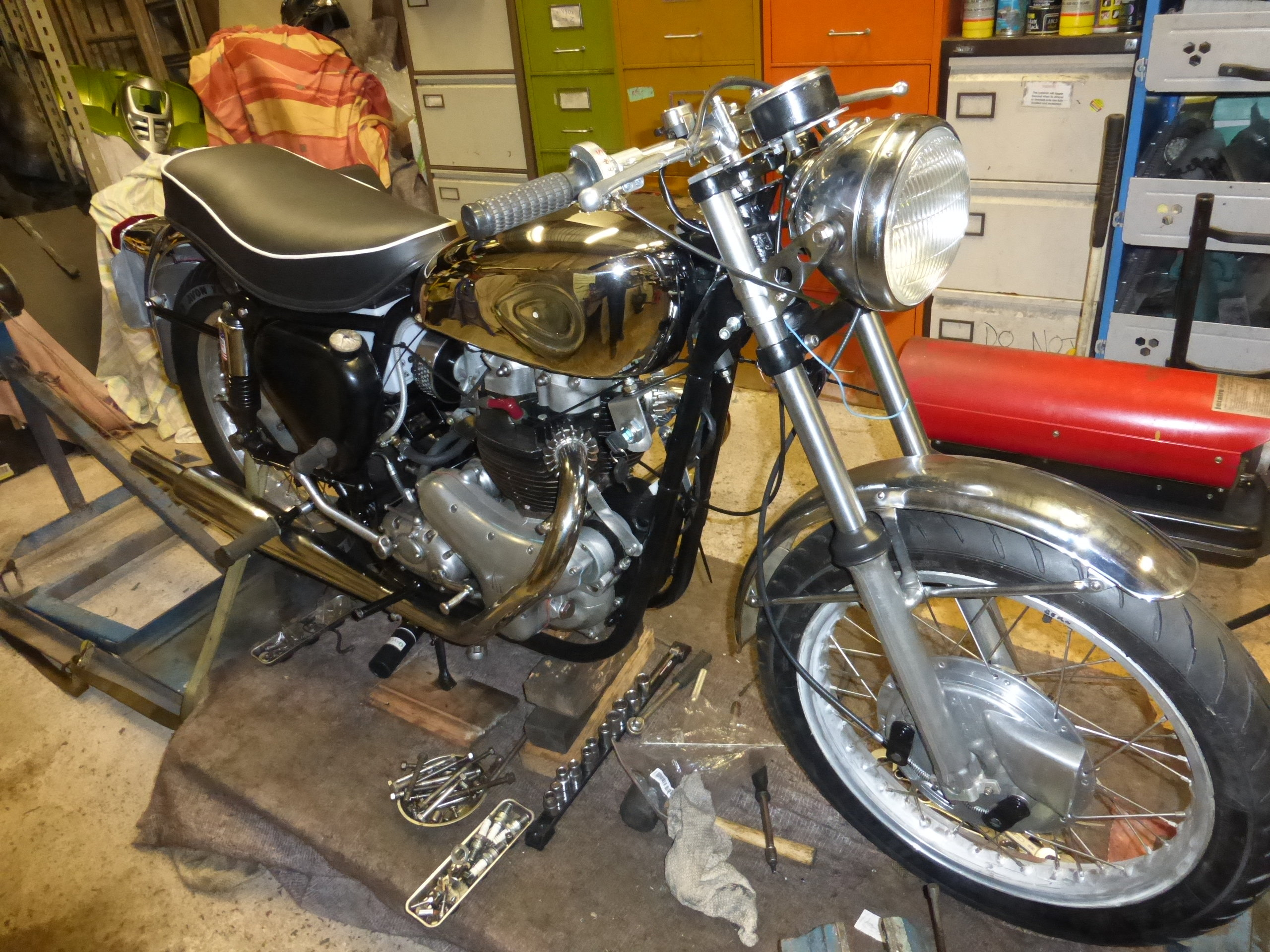 1956 BSA A10 Gold Flash Nut and Bolt Restoration For Sale (picture 8 of 12)