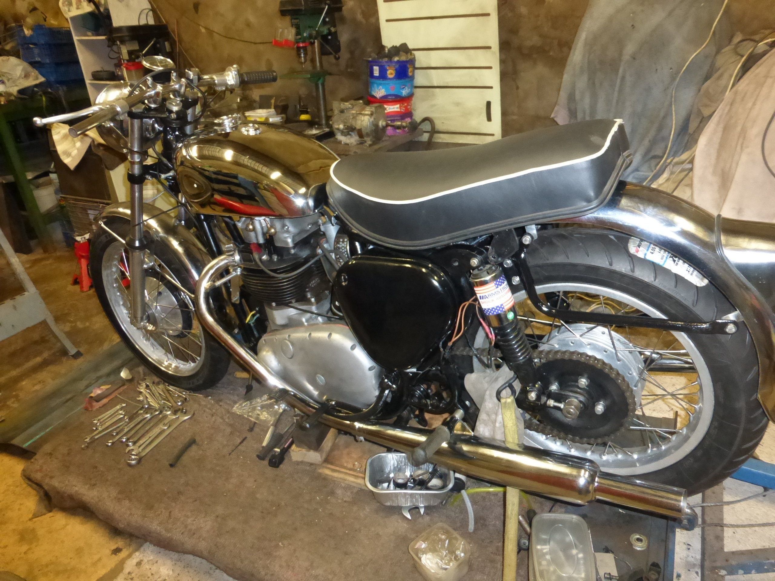 1956 BSA A10 Gold Flash Nut and Bolt Restoration For Sale (picture 9 of 12)