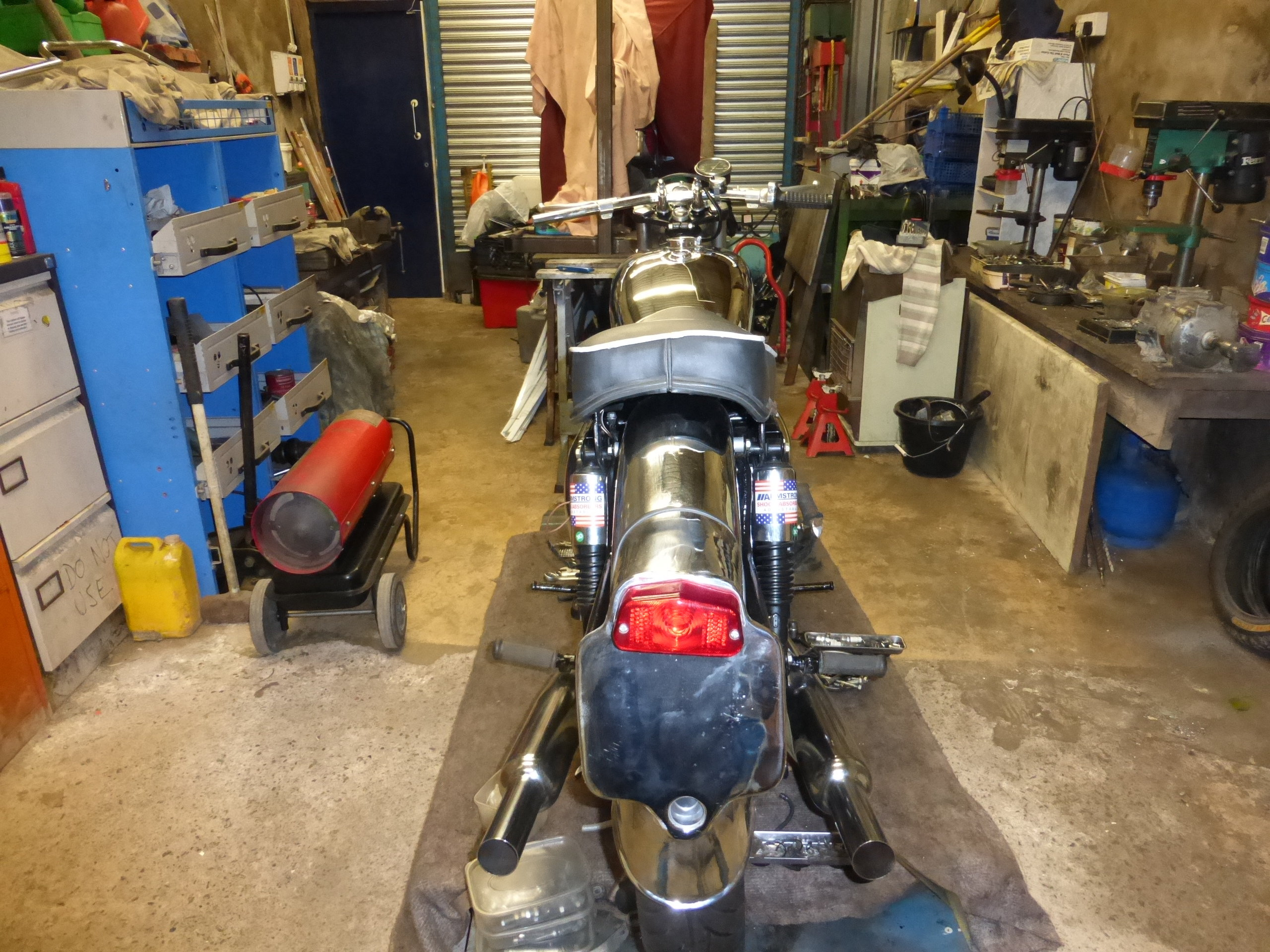 1956 BSA A10 Gold Flash Nut and Bolt Restoration For Sale (picture 10 of 12)