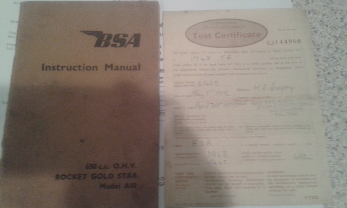1963 BSA Rocket Goldstar,  Genuine-Numbers Matching SOLD (picture 5 of 11)