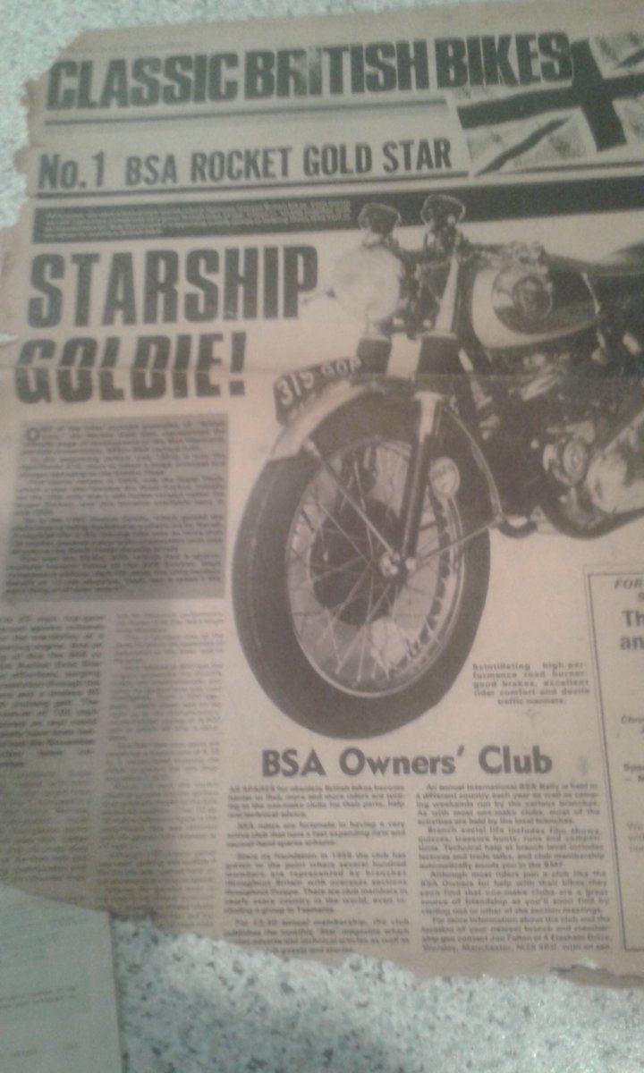 1963 BSA Rocket Goldstar,  Genuine-Numbers Matching SOLD (picture 11 of 11)