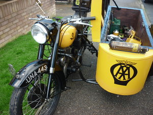 BSA M21 WITH AA TRIBUTE  SIDECAR
