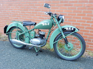 BSA Bantam D1  125cc  1951  Original Registration Number