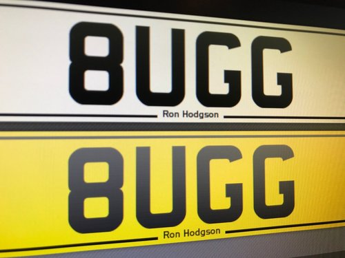 8 UGG Personal Number Plate Perfect For A Bugatti! For Sale (picture 1 of 1)