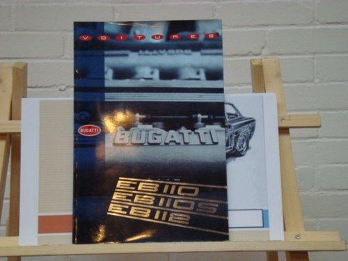 992 Bugatti EB110 EB110 GT EB112 VIP brochure For Sale (picture 1 of 3)