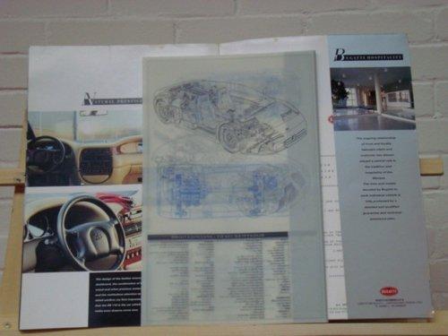 992 Bugatti EB110 EB110 GT EB112 VIP brochure For Sale (picture 2 of 3)