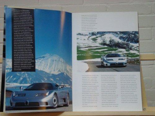 992 Bugatti EB110 EB110 GT EB112 VIP brochure For Sale (picture 3 of 3)