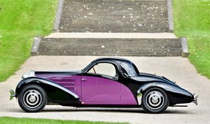 1938 Bugatti Type 57 Atalante Closed Coupé by Gangloff For Sale
