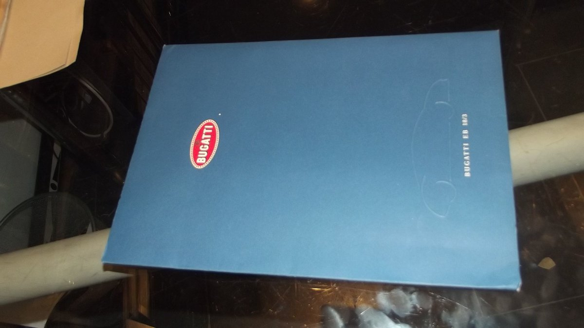 2000 bugatti sales brochure and framed christies auctin poster 90 For Sale (picture 3 of 4)