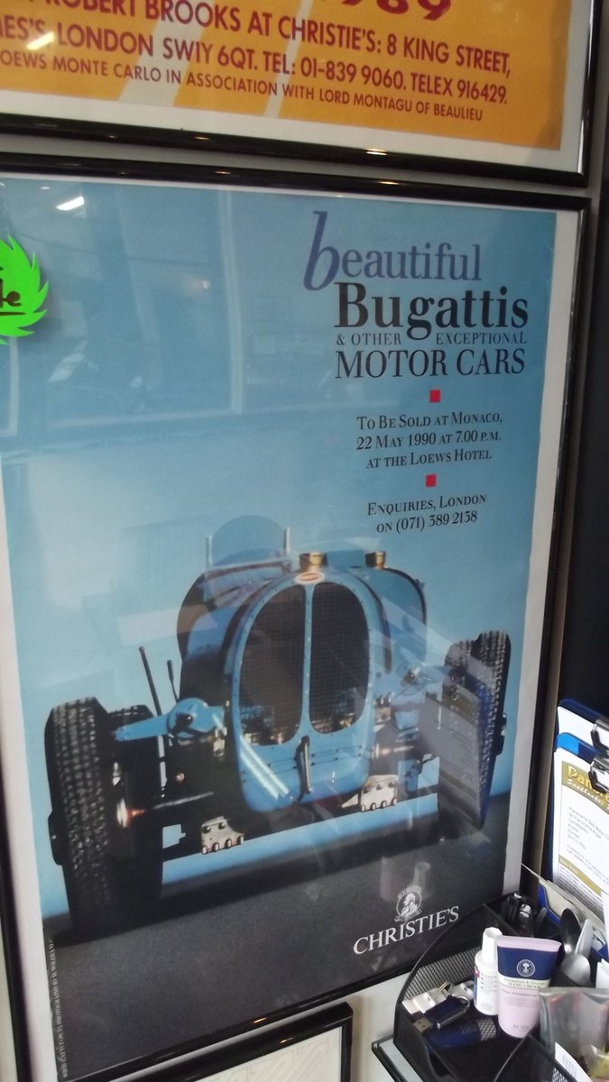 2000 bugatti sales brochure and framed christies auctin poster 90 For Sale (picture 4 of 4)