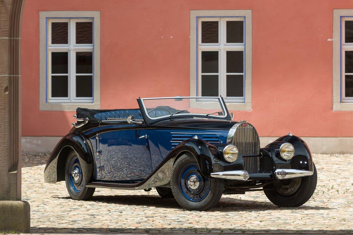 1939 Bugatti 57 Cabriolet 4 places par Vanvooren No reserve For Sale by Auction (picture 1 of 6)