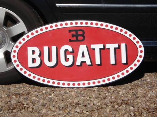 Bugatti garage sign For Sale (picture 1 of 2)
