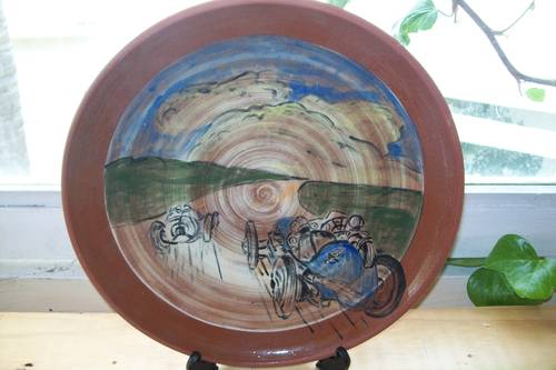 BALLOTT FORMULA ONE RACER CERAMIC PLATE 1920,S For Sale (picture 1 of 6)