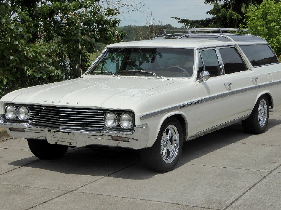 1964 Buick Skylark Sport Wagon = 300-v8 Ivory(~)Tan $22.5k For Sale (picture 1 of 6)