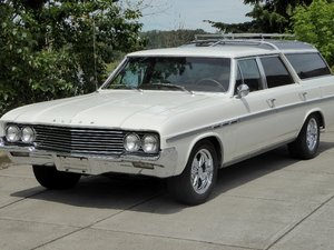 1964 Buick Skylark Sport Wagon = 300-v8 Ivory(~)Tan $22.5k For Sale