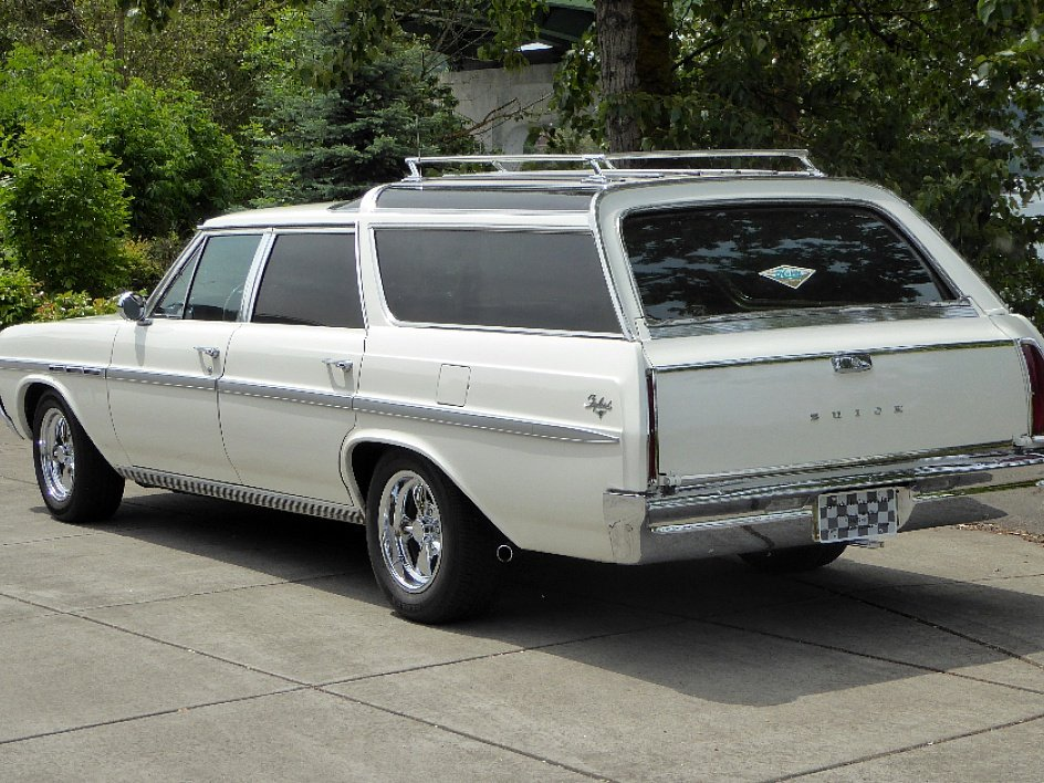 1964 Buick Skylark Sport Wagon = 300-v8 Ivory(~)Tan $22.5k For Sale (picture 2 of 6)