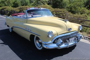 1953 Buick Super Convertible = Power-Top Clean Yellow $45k For Sale