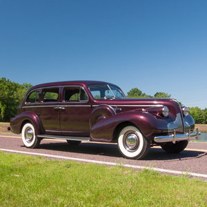 1939 Buick Eight Limited Eight-passenger Touring Sedan Rare  For Sale