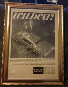 1962 Buick Wildcat Advert Original