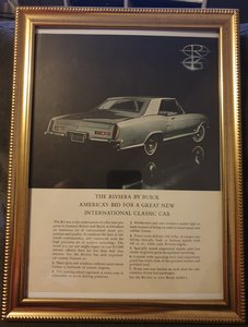 1962 Buick Riviera Advert Original