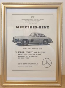 Original 1954 Mercedes 300SL Framed Advert