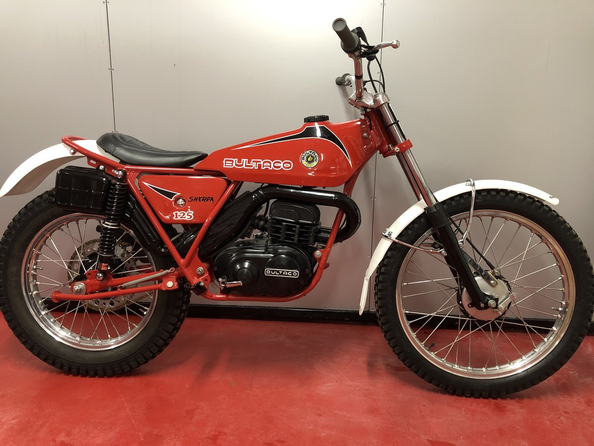 1974 BULTACO SHERPA 125 TWIN SHOCK TRIALS OUT THE BOX MINT £3795  For Sale (picture 1 of 6)