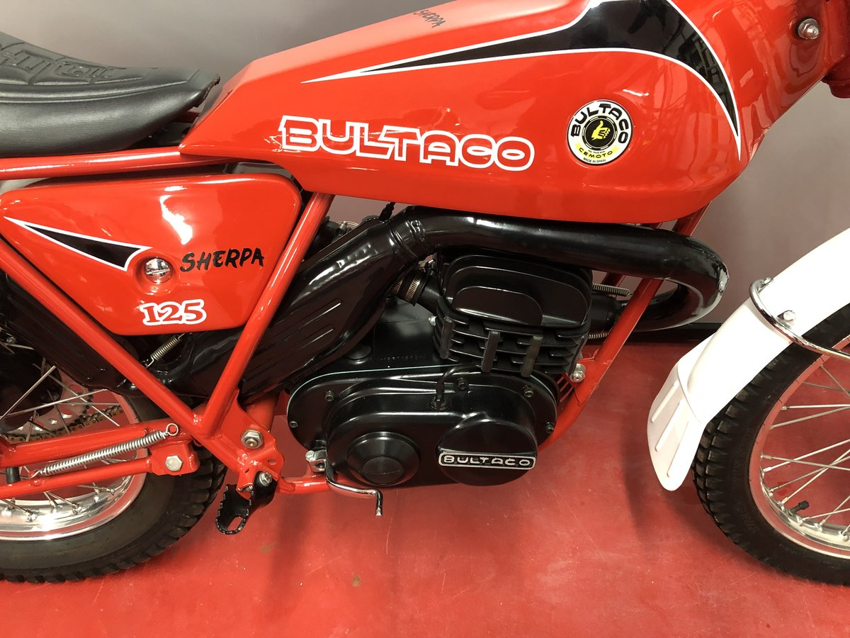 1974 BULTACO SHERPA 125 TWIN SHOCK TRIALS OUT THE BOX MINT £3795  For Sale (picture 3 of 6)