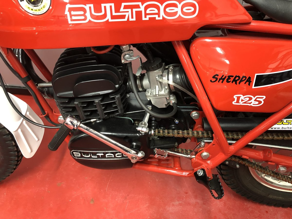 1974 BULTACO SHERPA 125 TWIN SHOCK TRIALS OUT THE BOX MINT £3795  For Sale (picture 4 of 6)