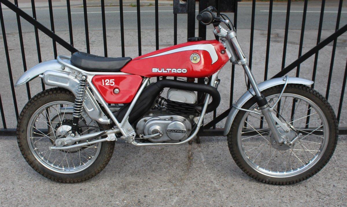 1978 Bultaco Sherpa T125 cc Trials Bike  SOLD (picture 1 of 6)