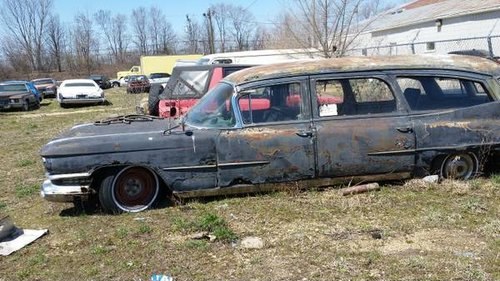 1959 Cadillac Ambulance = Project Roller Car $10 5k For Sale