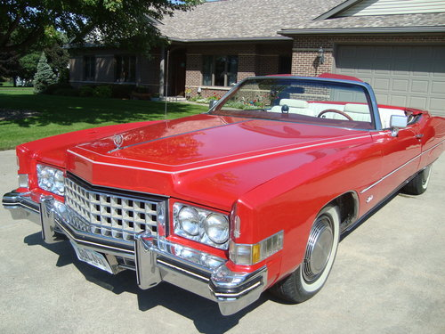 1973 Cadillac Eldorado Convertible * RED For Sale (picture 1 of 6)