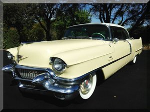 1956 Cadillac Coupe de Ville = clean Yellow AC Auto $24.9k For Sale