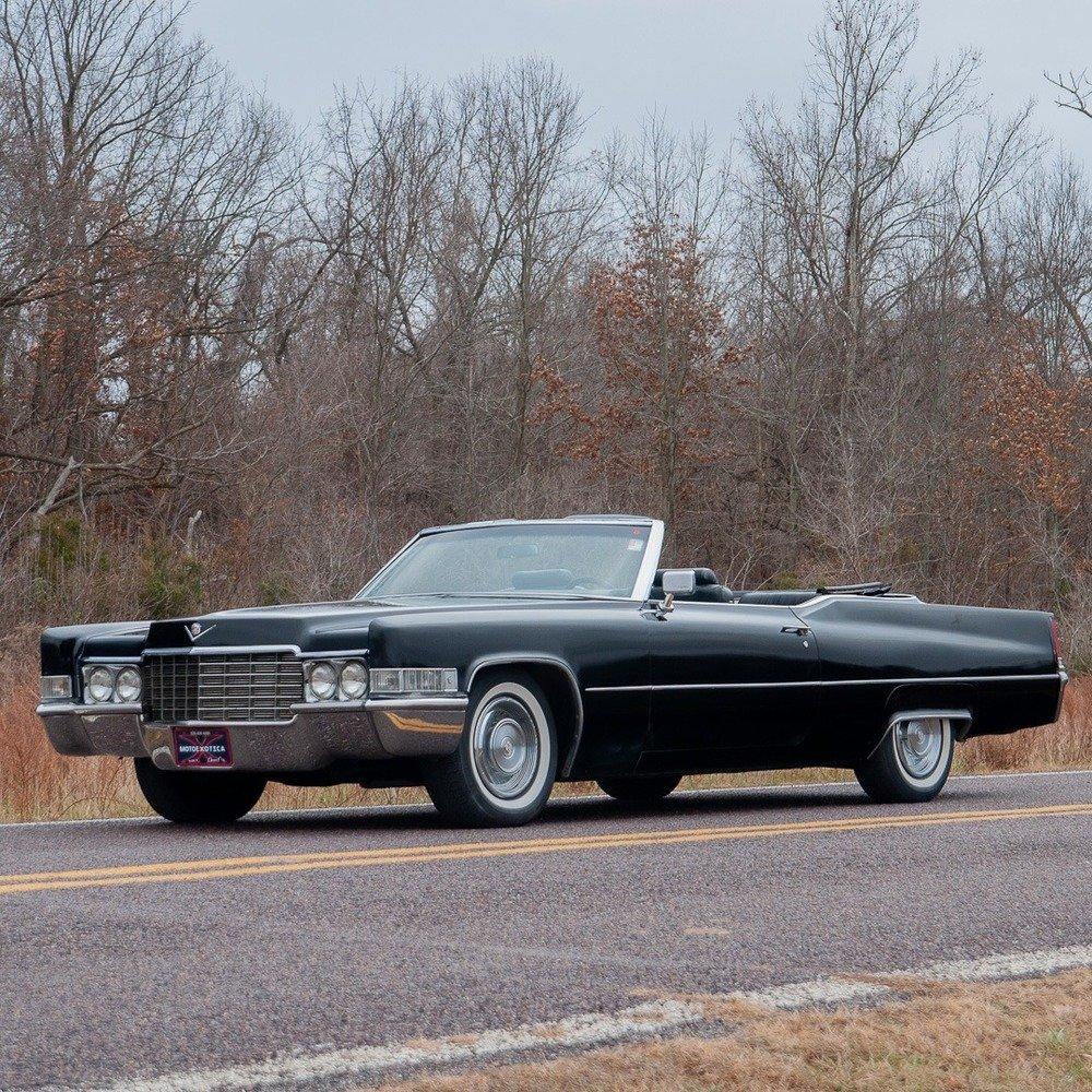 1969 Cadillac Coupe De Ville Convertible = All Black $25