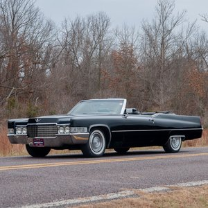 1969 Cadillac Coupe de Ville Convertible = All Black  $25.9k For Sale