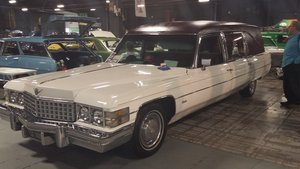 1974 Cadillac White Miller Meteor Funeral  For Sale