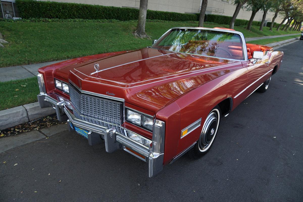 1976 Cadillac Eldorado Convertible with 952 original miles! For Sale (picture 1 of 6)