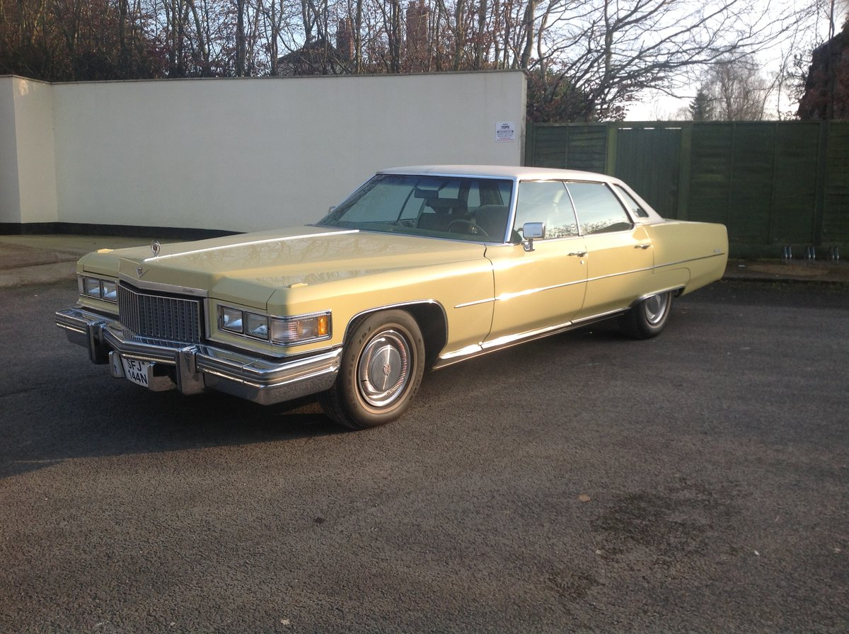 1974 Cadillac Sedan Deville 46,700 miles 1975 Superb   For Sale (picture 1 of 6)