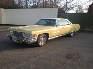 1974 Cadillac Sedan Deville 46,700 miles 1975 Superb   For Sale