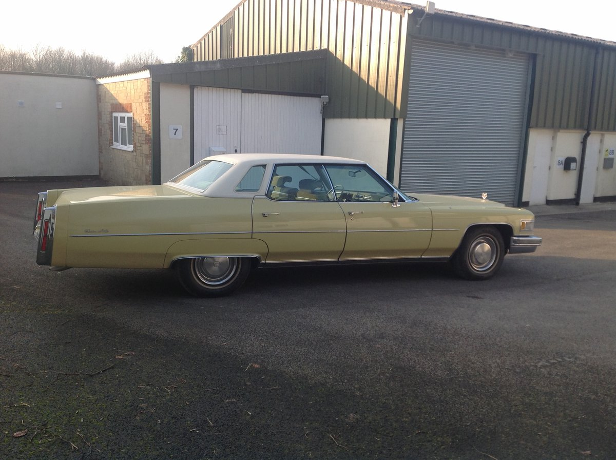 1974 Cadillac Sedan Deville 46,700 miles 1975 Superb   For Sale (picture 2 of 6)