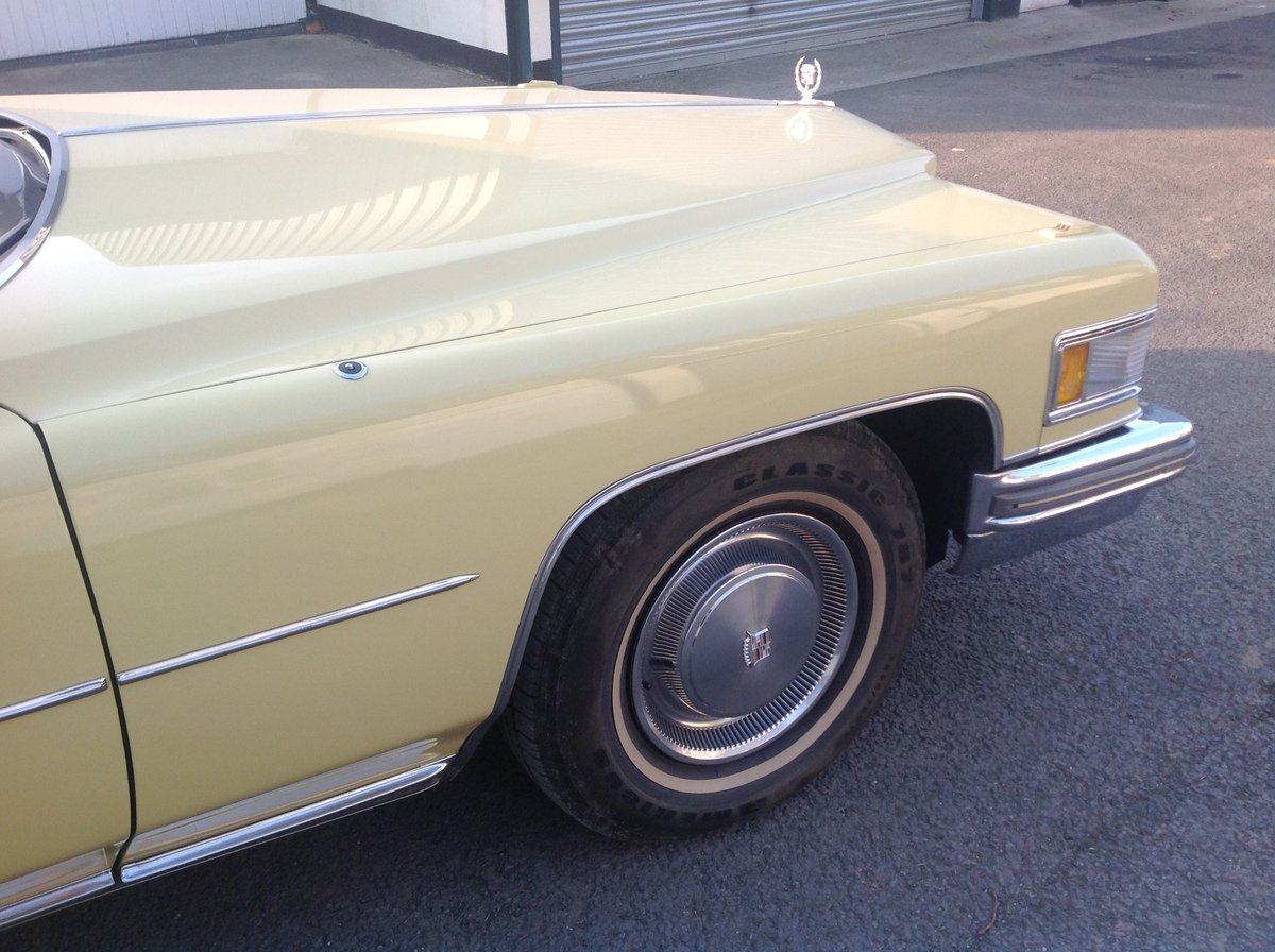1974 Cadillac Sedan Deville 46,700 miles 1975 Superb   For Sale (picture 4 of 6)