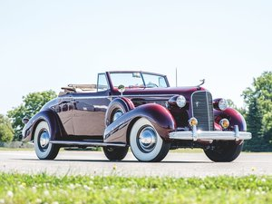 1936 Cadillac V-12 Convertible Coupe by Fleetwood For Sale by Auction